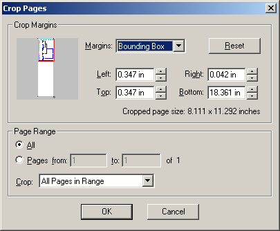 crop pages bounding box