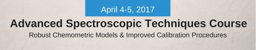Advanced Spectroscopic Techniques Course 2017