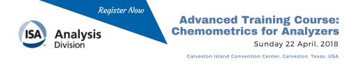 Apr 22, 2018 ISA AD Advanced Analyzer Course, Galveston, TX