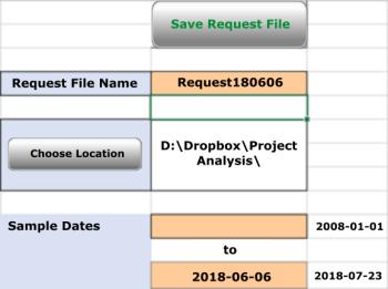 Model Request through Excel